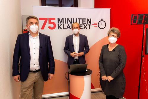 """""""75 Minuten Klartext"""" online mit Hanna Naber MdL und OB Jürgen Krogmann."""