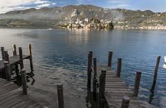 Lago di Orta mit Isola di San Giulio, Piemont I Italien