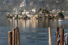 Lago di Orta mit Isola di San Giulio, Piemont II Italien