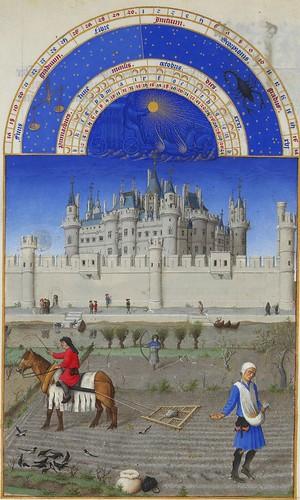 Stundenbuch des Herzogs von Berry, Oktober  Les très riches heures du Duc de Berry, Octobre