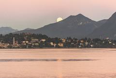 Mondaufgang über Verbania Lago Maggiore