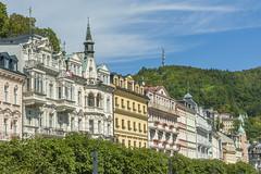 Stadtansicht Karlsbad Karlovy Vary CZ VI