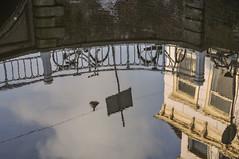 Gracht Wasserspiegelung Delft Niederlande