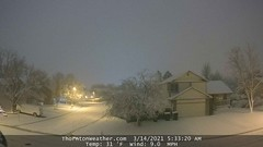 March 14, 2021 - Predawn look at the snow. (ThorntonWeather.com)