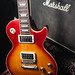 Gibson Les Paul and Marshall box.