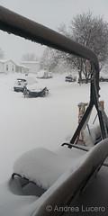 March 14, 2021 - Snowy scene during the blizzard. (Andrea Lucero)