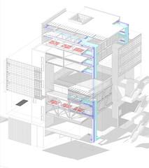 Alberto Ferrero - Exploded Axonometric view
