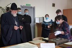 12 марта 2021, Студенты пастырского отделения побывали в отделе редкой книги Ставропольской краевой научной библиотеки