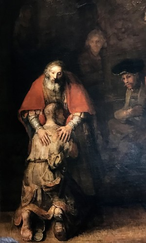 Rembrant's Return of the Prodigal- on display in St. Petersburg, Russia