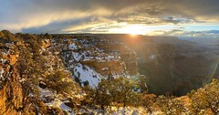 Despite being there for hundreds of sunsets, Moran Point at the Grand Canyon always seems to show something new. #moranpoint #grandcanyon #sunset #sunrise #clouds #winter #spring #springbreak #springbreak2021 #dawn #evening #morning #pano #panoramic #gold