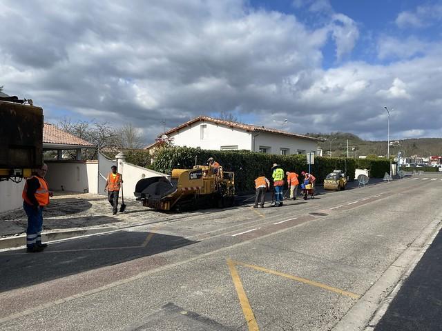 Les trottoirs de la rue des Acacias rénovés
