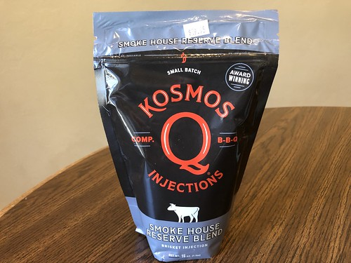 "Kosmos ""Smoke House Reserve Blend"" brisket injection by Wesley Fryer, on Flickr"