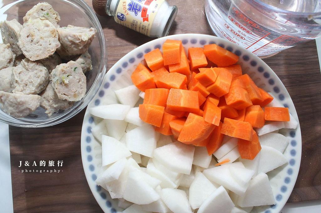 【食譜】蘿蔔丸子湯。2種蘿蔔就能煮出甘甜鮮美的蘿蔔貢丸湯,零失敗料理推薦 @J&A的旅行