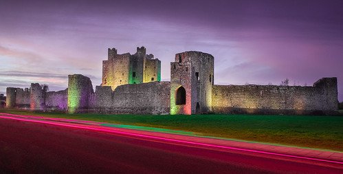 Trim Castle with Car Light Trails