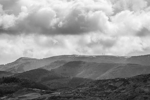 Mont Aigoual, vu depuis la corniche des cevennes