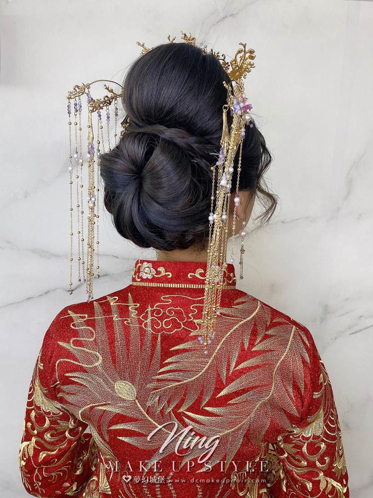 【新秘羽寧】新娘造型創作 / 龍鳳掛造型