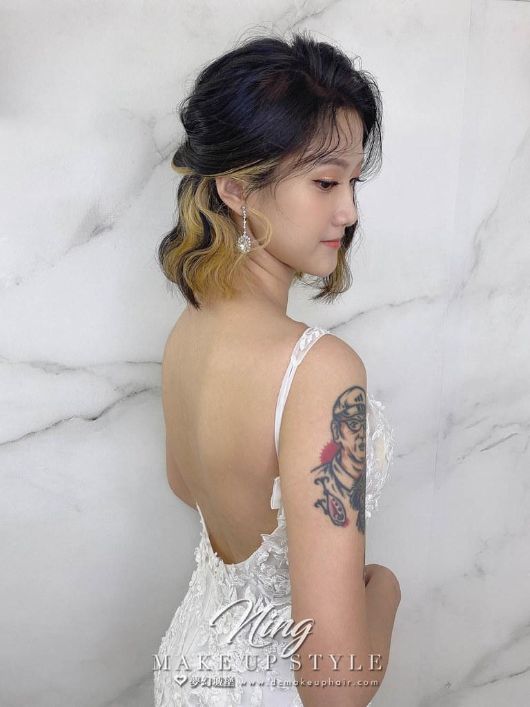 【新秘羽寧】新娘造型創作 / 短髮-韓系編