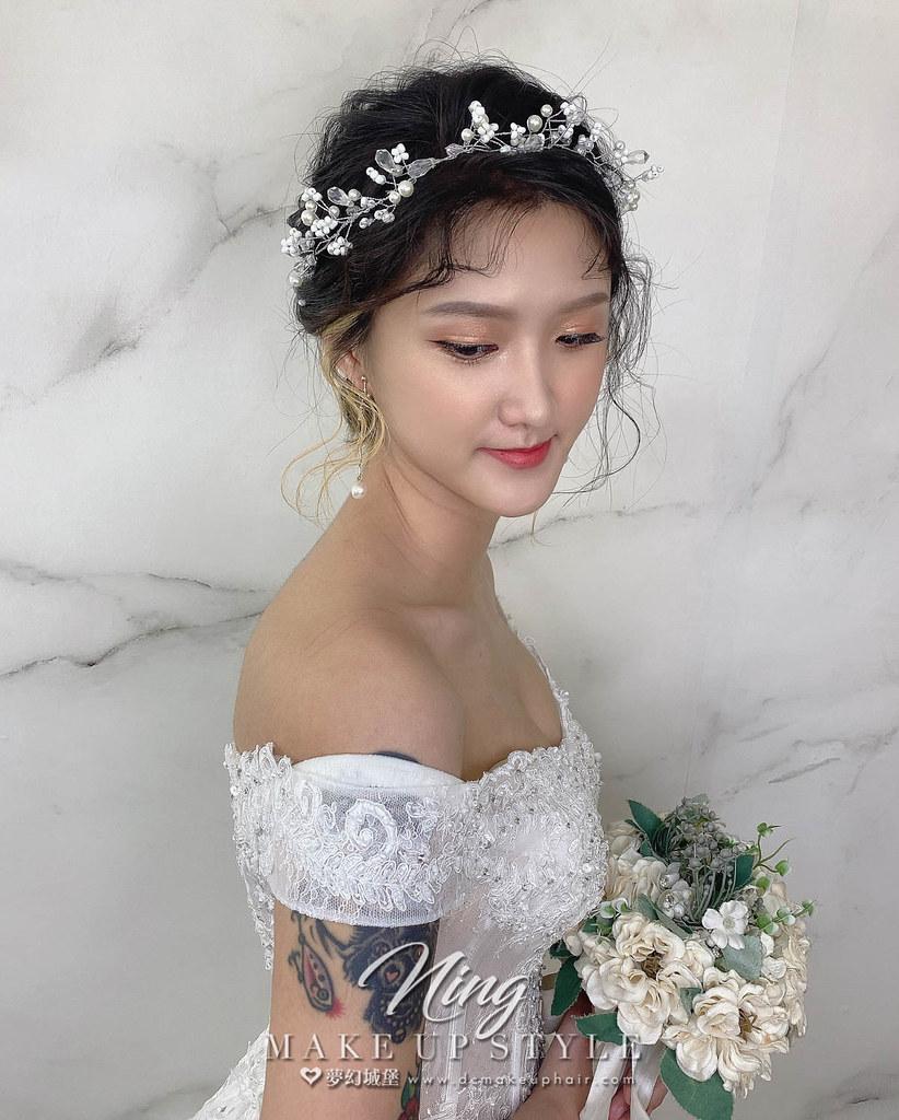 【新秘羽寧】新娘造型創作 / 短髮-仙氣低馬尾