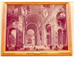 Interior of Saint Peter's, Rome, c. 1754 by Pannini