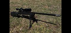 Remington 700 - Pillar bedded, Armor black Cerakote, barrel threaded and muzzle brake