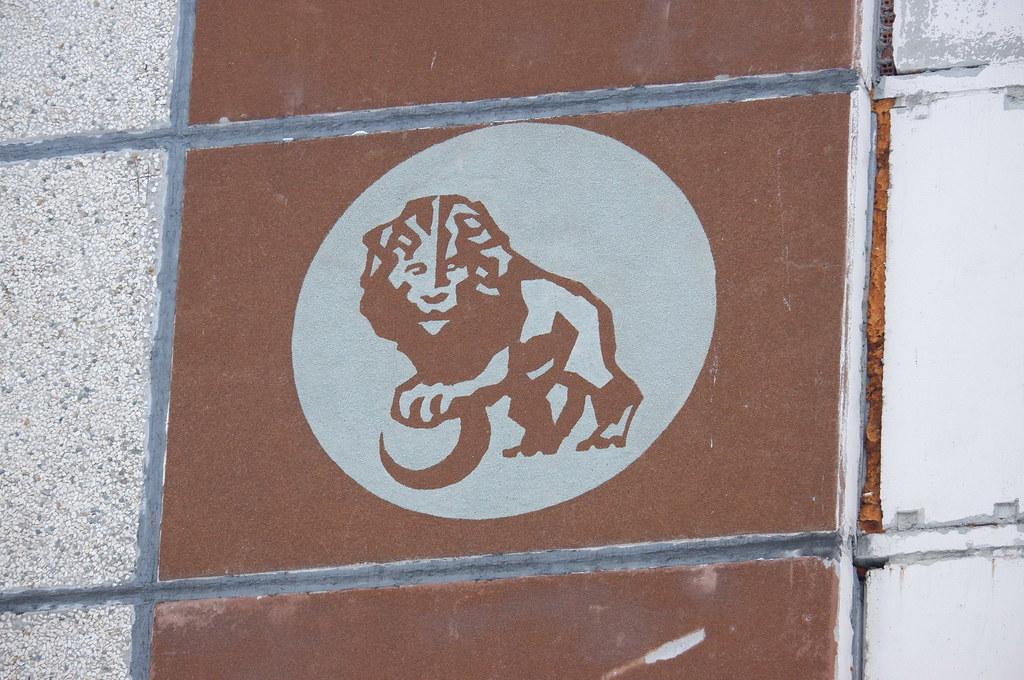 фото: Лев на девятиэтажке