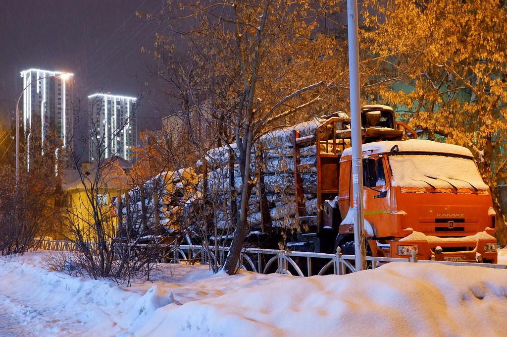 фото: Лесовоз в городе