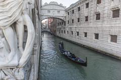 Venedig mit Seufzerbrücke und Dogenpalast