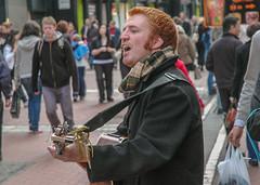 Straßensänger in Dublin, Irland