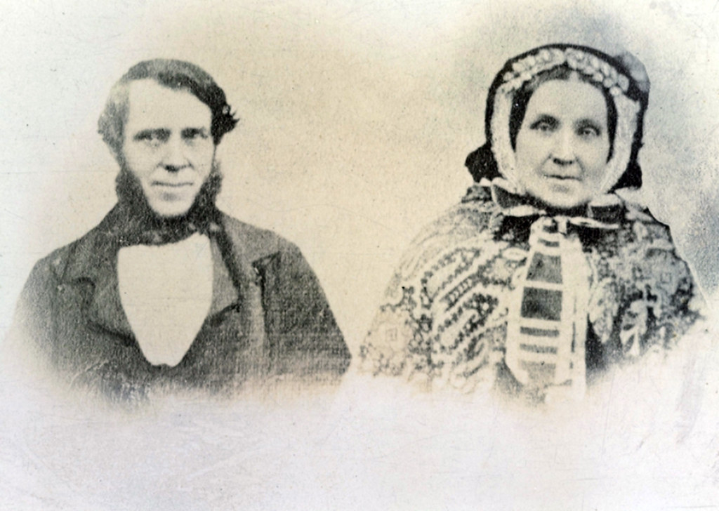 Allan McDuff cotton carding master and his wife Jean Steel 1868