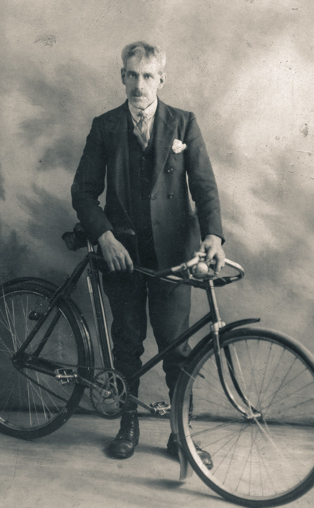Walter Buchanan cycled to work in 1900