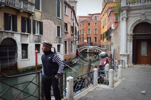 Un gondoliere a Venezia