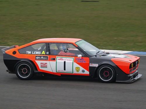 Tim Lewis hard at work in Alfasud Sprint 2007