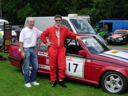 Tim and Andy Childs with 75 Twin Spark in 2007