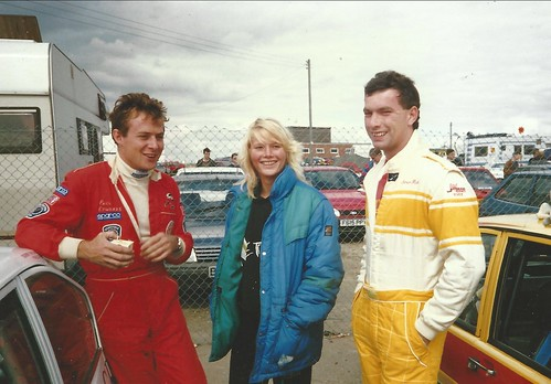 Sally with Class F competition in 1990 Paul Edwards and Simon Fish