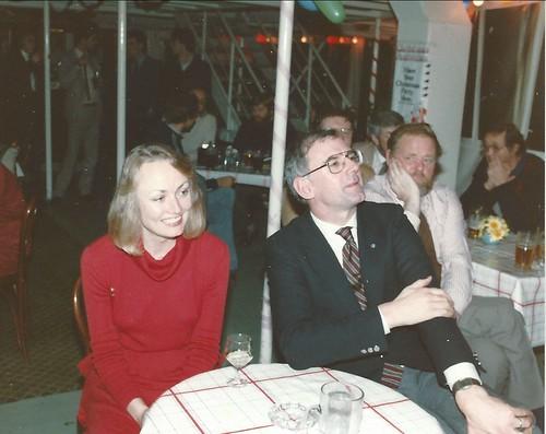 Linda and Martin Colvill at 1982 prize giving