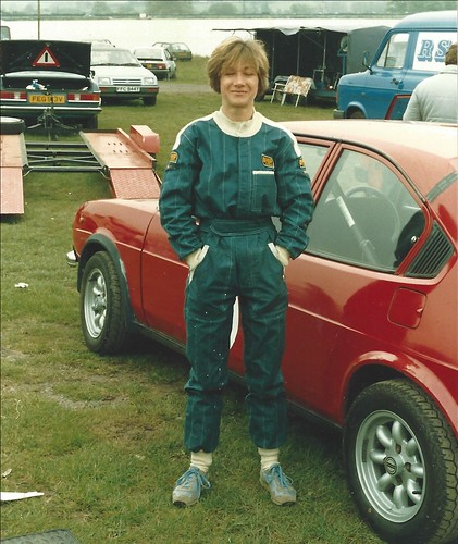 Janet Sherry with her Alfasud Ti