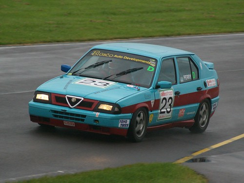 Tim Perry at wet Castle Combe 2008