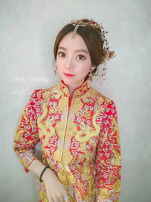 嘉義新秘Bella,新娘秘書,新秘 ,龍鳳褂造型,秀禾服造型 ,古典優雅, 中式新娘造型