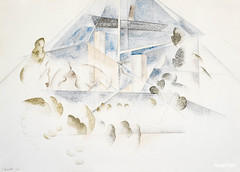 Bermuda, Masts and Foliage (1917) painting in high resolution by Charles Demuth. Original from The Barnes Foundation. Digitally enhanced by rawpixel.