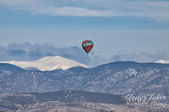 March 28, 2021 - A hot air balloon and the Rocky Mountains. (Tony's Takes)