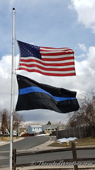 March 23, 2021 - Flags at half mast in memory of the Boulder shooting. (ThorntonWeather.com)