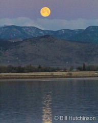 March 28, 2021 - Moonset and the Rocky Mountains. (Bill Hutchinson)