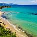 The Blue Waters & Sandy Beaches Zante Coastline -  Greece Velvia 100 Olympus OM-D EM1-II & M.Zuiko 7-14mm f2.8 Wide Zoom