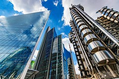 """Skyscrapers seen in the Square Mile, London <a style=""""margin-left:10px; font-size:0.8em;"""" href=""""http://www.flickr.com/photos/49445699@N00/51084307533/"""" target=""""_blank"""">@flickr</a>"""