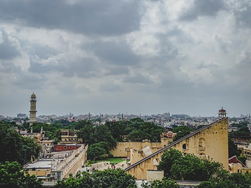Jantar Mantar from the Hawa Mahal