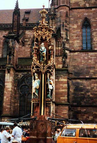"Freiburg 1987 (05) Fischbrunnen • <a style=""font-size:0.8em;"" href=""http://www.flickr.com/photos/69570948@N04/51087510941/"" target=""_blank"">View on Flickr</a>"