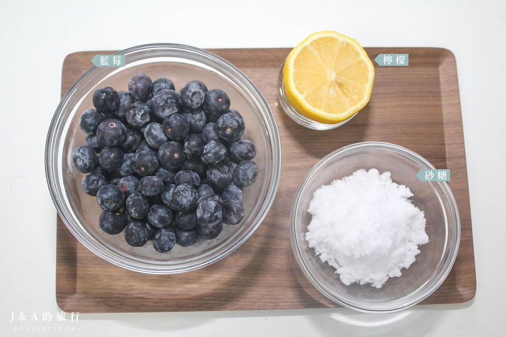 【食譜】藍莓果醬。低糖版手工藍莓醬,只要藍莓、檸檬跟砂糖就能做出天然好吃的果醬 @J&A的旅行