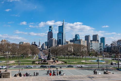 Philadelphia City Skyline from Philadelphia Museum of Art