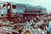 SR Rebuilt WC 4-6-2 34046 Braunton @ Woodham's Barry, March 1979
