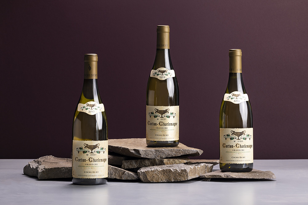 圖3:「布根地最佳白酒」Dom. Coche Dury獨特2013-2015年Corton-Charlemagne 白酒套組,陳年潛力極佳。